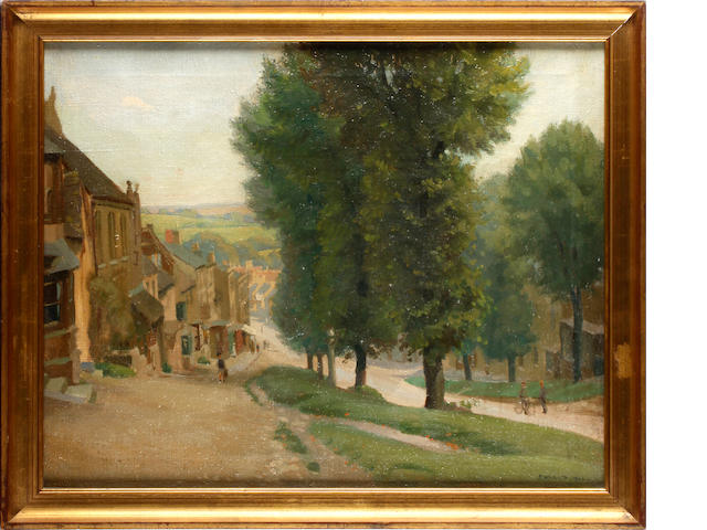 P. Willats (British, 20th Century) Burford High Street