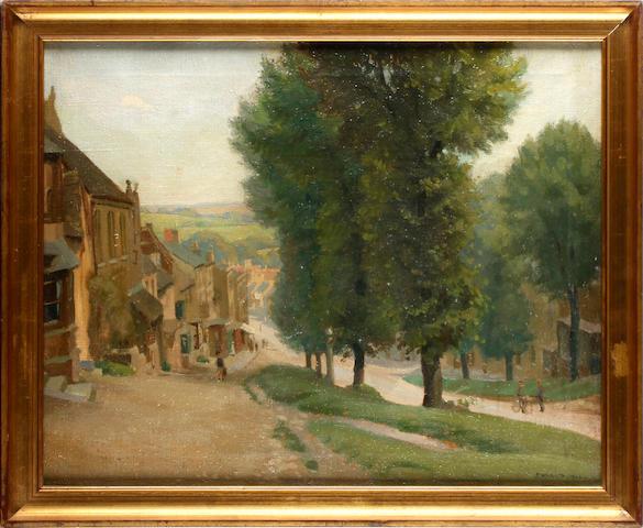 P. Willats (British, 20th Century) Burford High Street