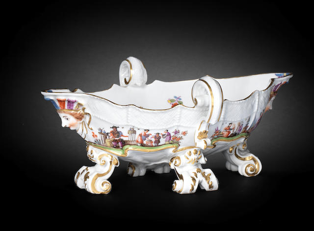 A Meissen two-handled sauceboat, circa 1740