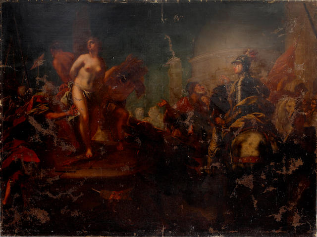 Venetian School, 18th Century Execution of a naked maiden (unframed)