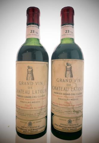 Chateau Latour 1948 (2 half-bottles)