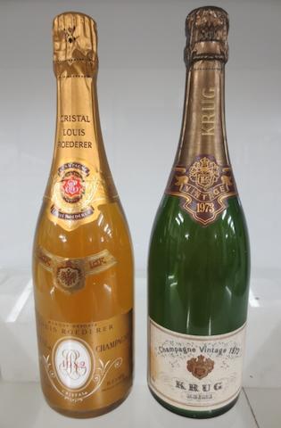 Krug 1973 (1)<BR />Louis Roederer Cristal 1982 (1)