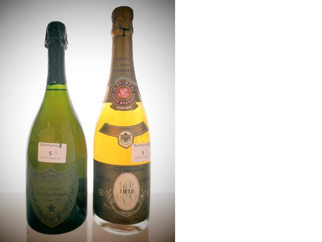 Dom Pérignon 1975 (1)<BR />Louis Roederer Cristal 1978 (1)