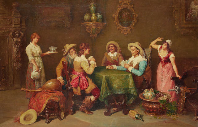 Francesco Bergamini (Italian, 1815-1883) The fair conspirator