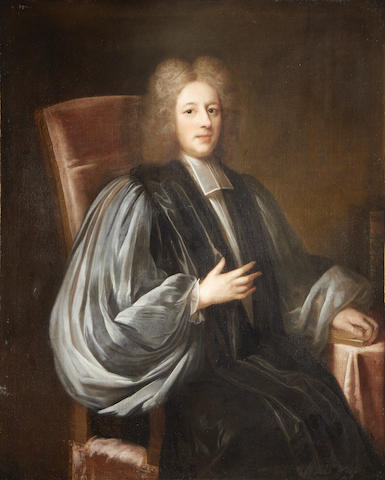 Circle of Charles Jervas (Irish, circa 1675-1739) Portrait of a seated cleric