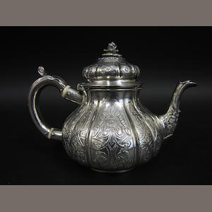 A George III silver baluster teapot by William Bateman, London 1818