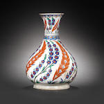 A rare, large Iznik pottery Bottle, Turkey,  circa 1575