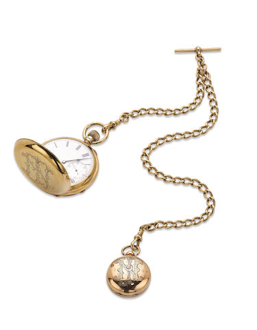 An 18ct gold hunter pocket watch, by John Rogers, London 1895