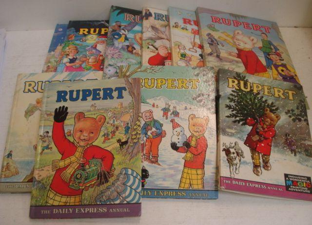 A large collection of Rupert Annuals and Rupert books, together with seven Limited Edition facsimile editions in slip cases. (55)