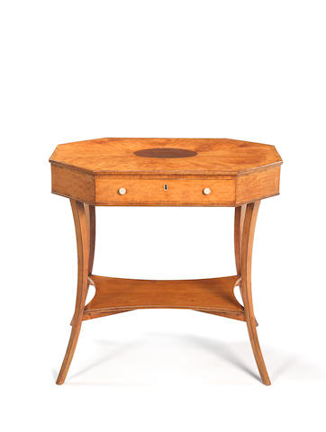 A George III satinwood octagonal table