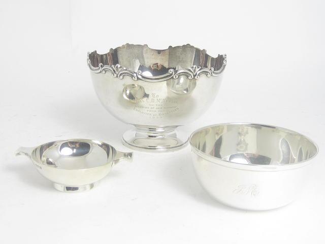 A silver rose bowl Birmingham 1919