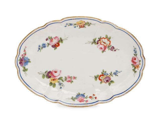 A Nantgarw oval dish Circa 1818-20