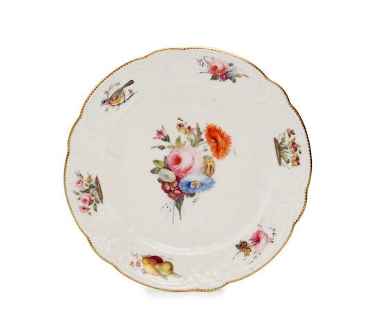 A Nantgarw plate, of 'Brace Service' type Circa 1818-20