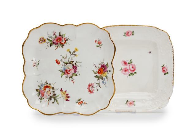 Two Nantgarw shaped dessert dishes Circa 1818-20
