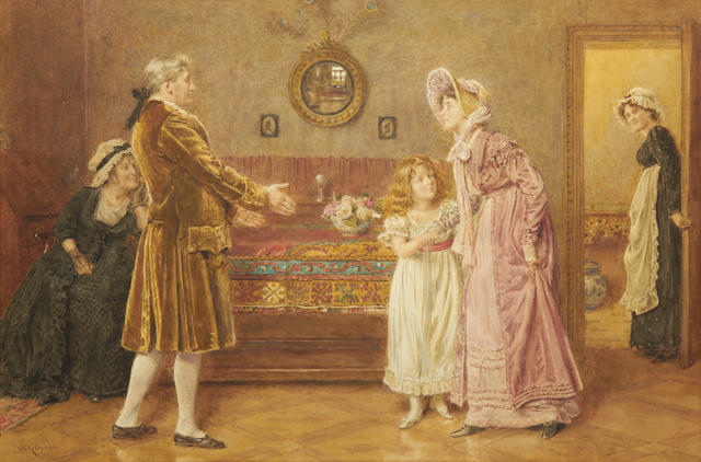 George Goodwin Kilburne, RI, RBA (British, 1839-1924) The Welcome