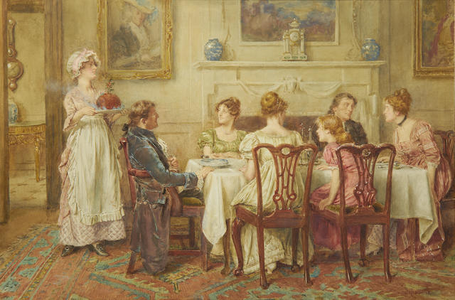 George Goodwin Kilburne, RI, RBA (British, 1839-1924) Christmas Day