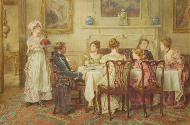 George Goodwin Kilburne, RI, RBA (British, 1839-1924) Christmas Day