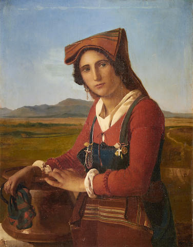 Italian School, early 19th Century  Portrait of an Italian peasant girl