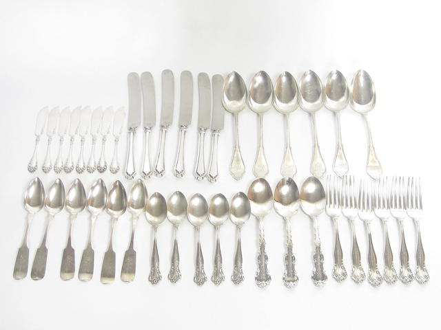 A collection of American flatware various makers and dates