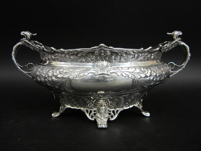 An Edwardian silver two-handled bowl by Henry Atkin, Sheffield 1907