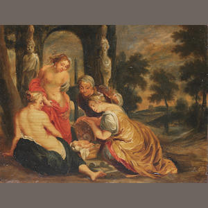 After Sir Peter Paul Rubens, 18th Century The daughters of Cecrops finding Erichthonius unframed
