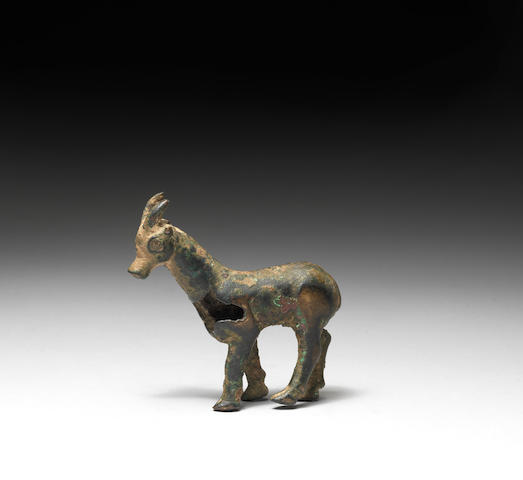 A Hittite bronze goat