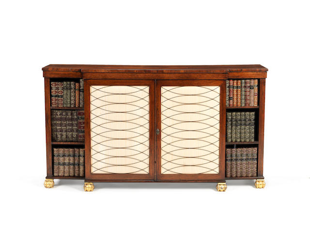 A Regency rosewood side cabinet