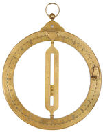 A large Edward Nairne brass universal equinoctial ring dial, English, late 18th century,