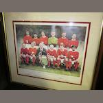 1968 European Champions official Manchester United limited edition hand signed 25th anniversary print