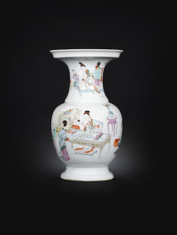A famille rose vase  19th century [CHECK DATE]