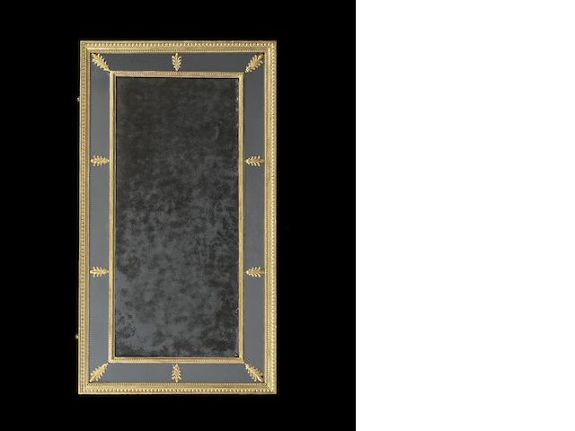 A George III carved giltwood marginal wall mirror