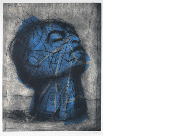 William Joseph Kentridge (South African, born 1955) 'Blue Head'