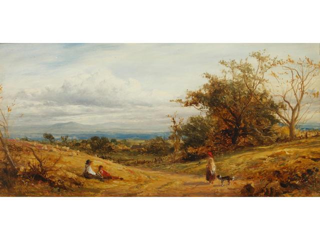 Benjamin Williams Leader, RA (British, 1831-1923) 'Near Whittington' (Worcestershire)