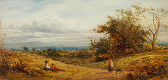 Benjamin Williams Leader, RA (British, 1831-1923) 'Near Whittington' (Worcestershire)