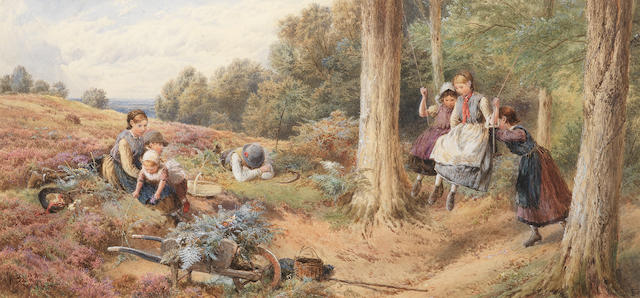 Myles Birket Foster, RWS (British, 1825-1899) The Swing
