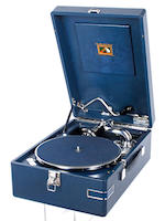 An HMV model 102 portable gramophome