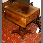 A Victorian rosewood Pembroke work table,
