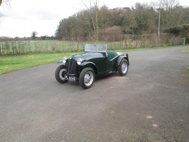 1931 Austin Seven 'Swallow' Tourer Special  Chassis no. B33403 Engine no. M130622