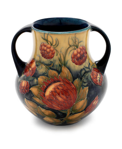 William Moorcroft 'Protea' a Twin-handled Vase, circa 1928