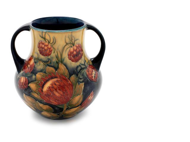 William Moorcroft 'Alhambra' a Large Twin-handled Macintyre vase, circa 1903