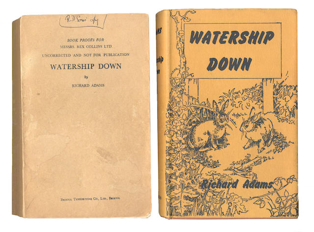ADAMS (RICHARD) Watership Down, FIRST EDITION, AUTHOR'S PRESENTATION COPY INSCRIBED To Reg. Sones, 1972; Proof copy; 3 other signed works, 5 letters/postcards; 2 photographs (small collection)