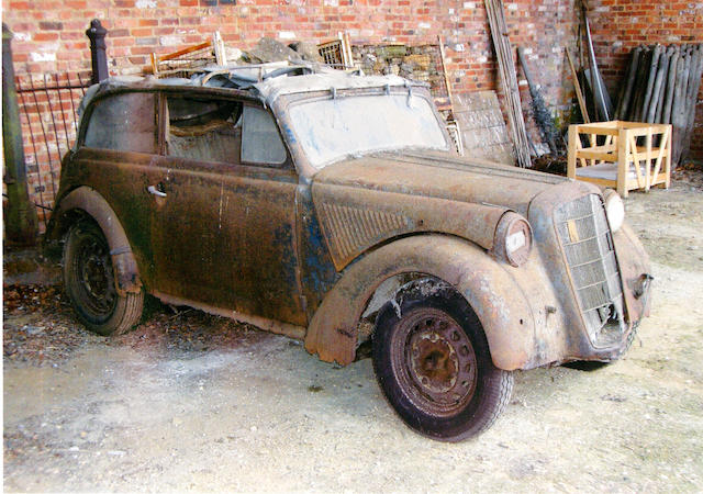 1936 Opel Kadett 'Olympia' Cabriolet Project  Chassis no. 23764688 Engine no. 3715258