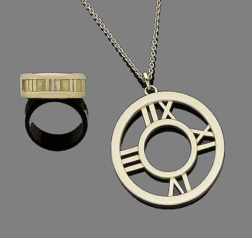 An 'Atlas' ring and pendant necklace,  by Tiffany & Co. (2)