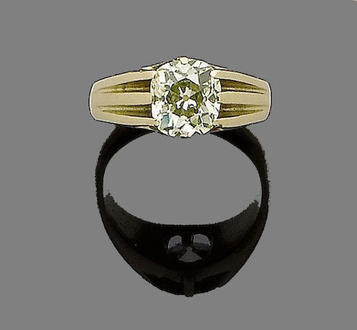 A single-stone diamond ring