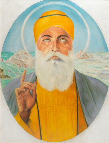 Attributed to Sobha Singh (India, 1901-1986) Guru Nanak