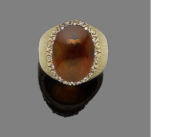 A citrine ring, by Buccellati