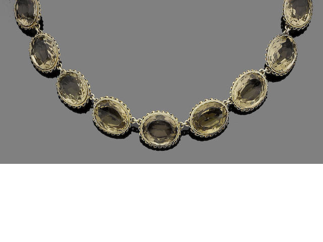 A citrine rivère necklace