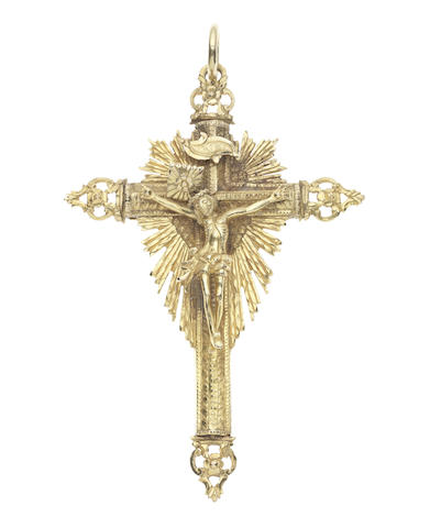 An 18th century gold reliquary pendant, Iberian