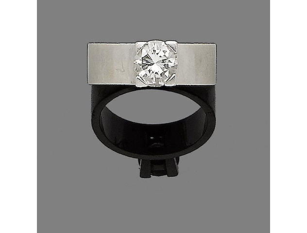 A diamond single-stone ring, by T&B Cousins & Sons