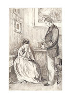 "TROLLOPE (ANTHONY) Album of 26 original illustrations to ""The Way We Live Now"""